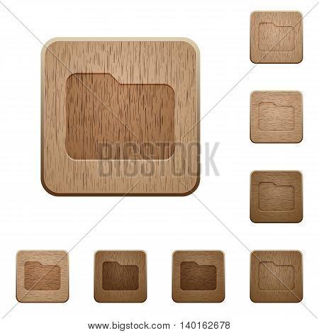 Set of carved wooden folder buttons in 8 variations.