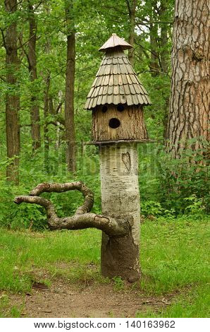 The Park was built feeders for birds and squirrels.