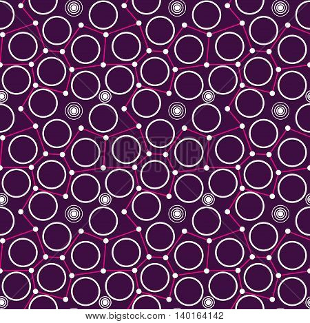 Circle dot and line abstract seamless pattern
