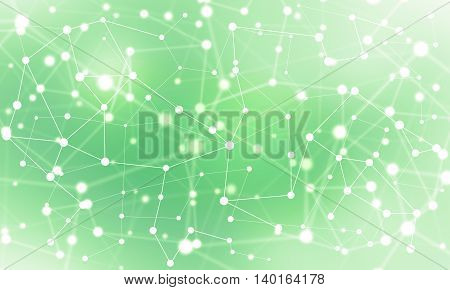 Background color image with connected lines and figures
