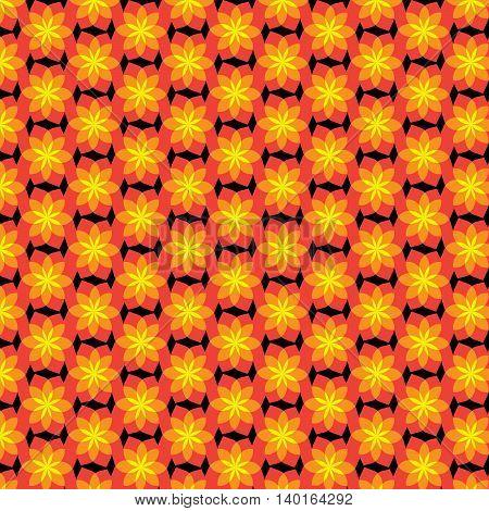 Ornage flower pattern design for background or wallpaper.