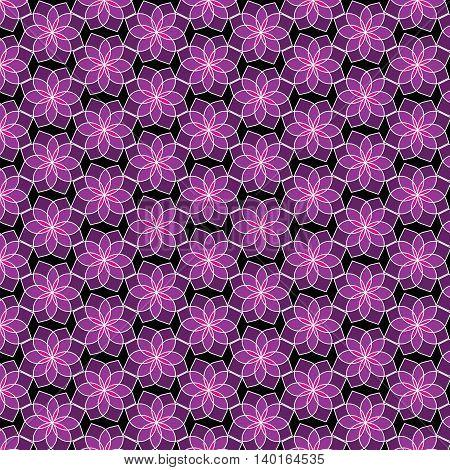 Purple flower pattern design for background or wallpaper.