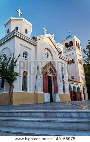 Facade Orthodox Orthodox churches in Kos in Greece