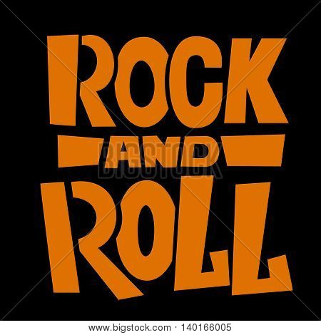 Rock and roll background design. Vector illustration.