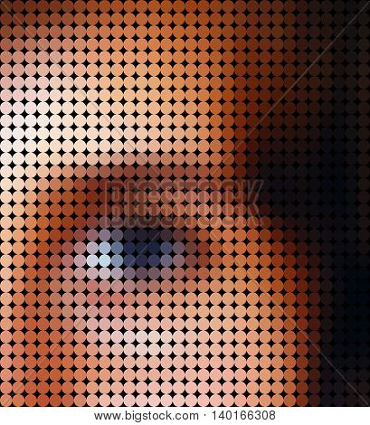 Girl eye low poly style vector mosaic background