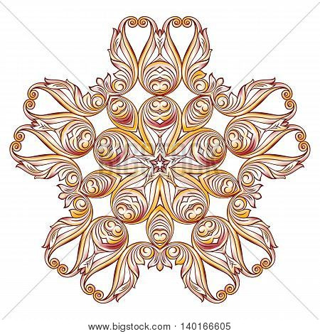 Floral pattern in pastel rose pink and yellow shades on white background