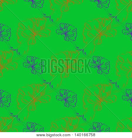Multicolor bow and ribbon bright seamless pattern.