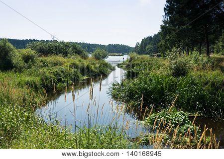 River Nerskaya River flows into Lake Russia