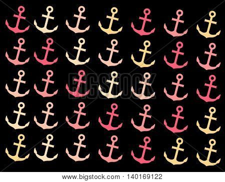pattern with anchors