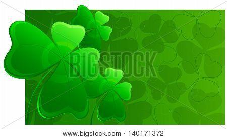 Clover St. Patrick's Day background. Vector illustration