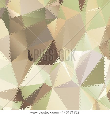 Abstract background with triangles and colorful geometric shapes.