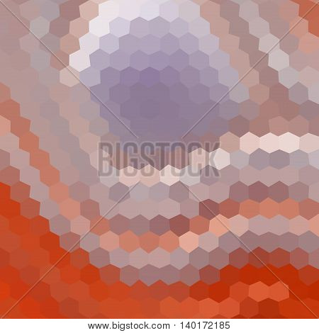 Pattern Low Poly Hexagon Style Vector Mosaic Background