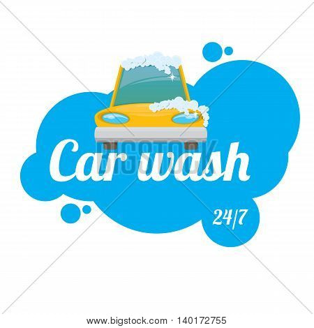 vector Car wash icons set isolated on white. vector car wash sticker collection. vector car wash logo template. washing car label