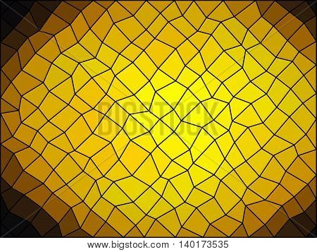 Sphere Low Poly Triangle Style Vector Mosaic Background
