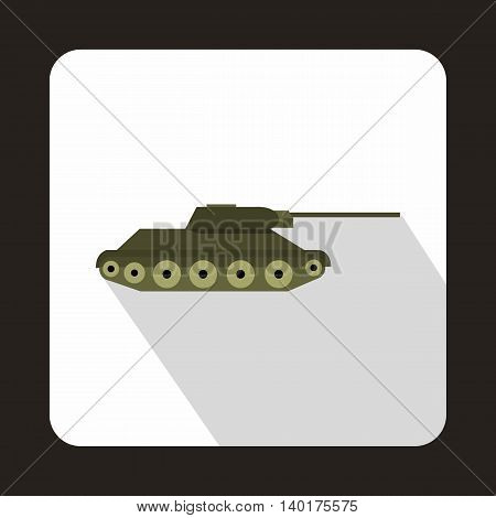 Tank icon in flat style with long shadow