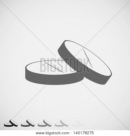 Pills icon simple grey design. Vector Illustration