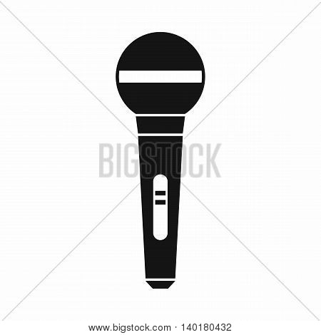 Microphone icon in simple style isolated on white background. Sound symbol