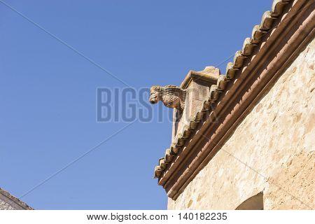 Gargoyle, Villafames rural villa in Castellon, Valencia region in Spain