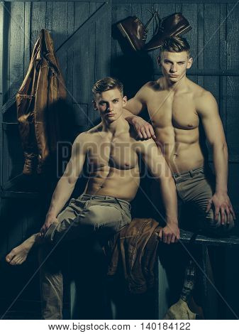 Twins With Muscular Torso