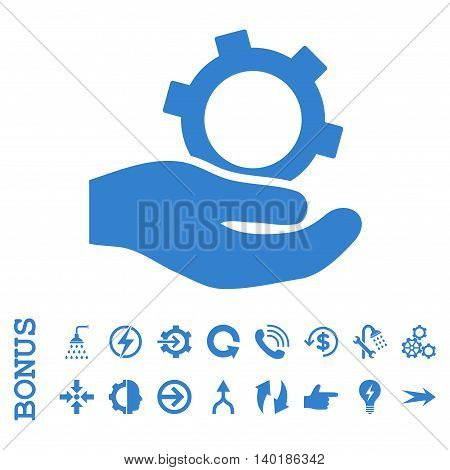 Engineering Service vector icon. Image style is a flat iconic symbol, cobalt color, white background.