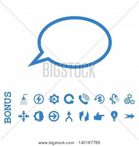 Hint Cloud vector icon. Image style is a flat iconic symbol, cobalt color, white background.