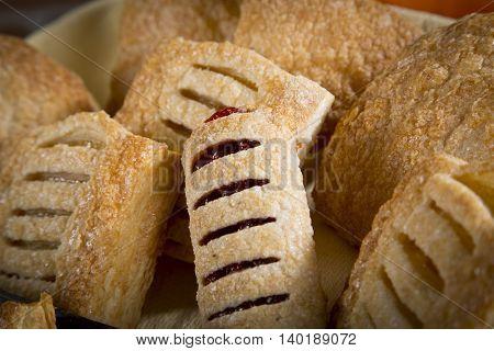 A delicius Sweet bread in a basket