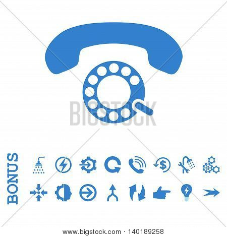Pulse Dialing vector icon. Image style is a flat iconic symbol, cobalt color, white background.