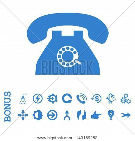 Pulse Phone vector icon. Image style is a flat pictogram symbol, cobalt color, white background.