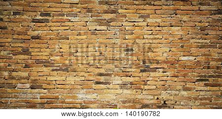 Grunge stile of brick wall vintage in old town on Mexico.
