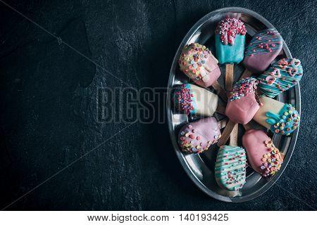 Colorful Mini Ice Creams