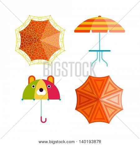 Umbrella vector illustration.