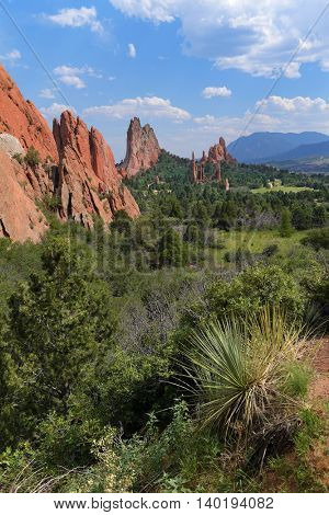 View of Garden of the Gods in Colorado Springs