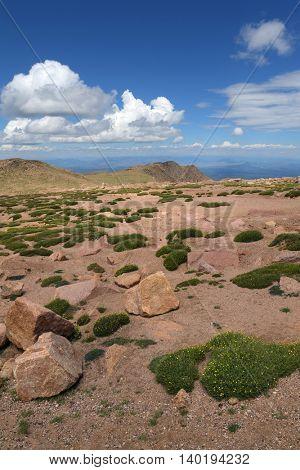 View of Colorado mountains near Peaks Peak