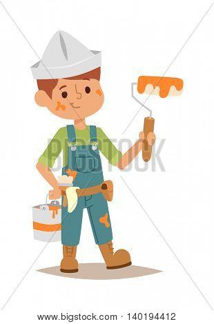 Builders kid vector