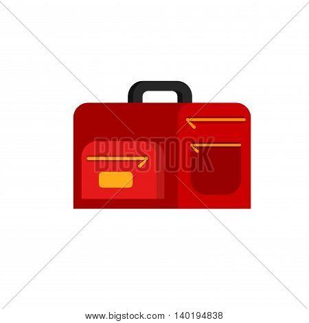 Color Sale Bag. Vector illustration. Flat style