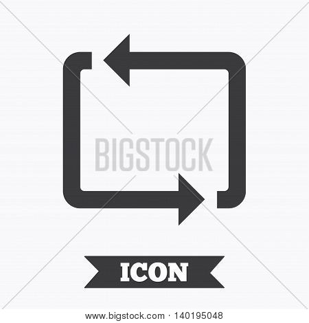 Repeat icon. Loop symbol. Refresh sign. Graphic design element. Flat repeat loop symbol on white background. Vector