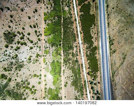 Top View of Highway of Sicily, Italy