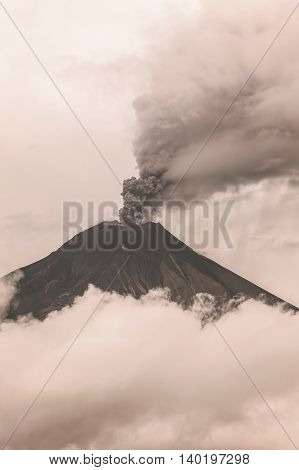 Tungurahua Volcano Eruption February 2016 Ecuador South America