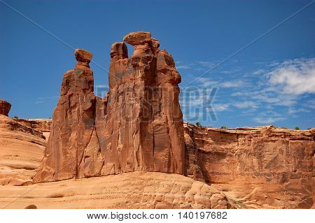 The Three Gossips on the Park Avenue and Courthouse Towers trail, Arches National Park