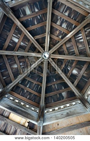 The ceiling of a gazebo in Joliet, Illinois.