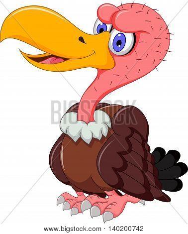 cute Vulture cartoon posing for you design