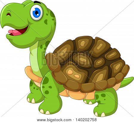 cut cartoon turtle walking for you design