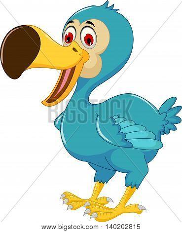 cute dodo bird cartoon posing for you design