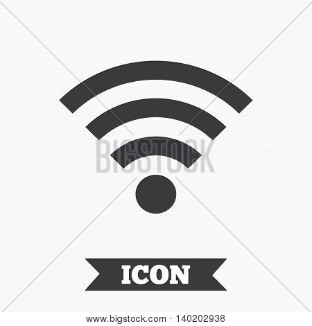 Wifi sign. Wi-fi symbol. Wireless Network icon. Wifi zone. Graphic design element. Flat wi-fi symbol on white background. Vector