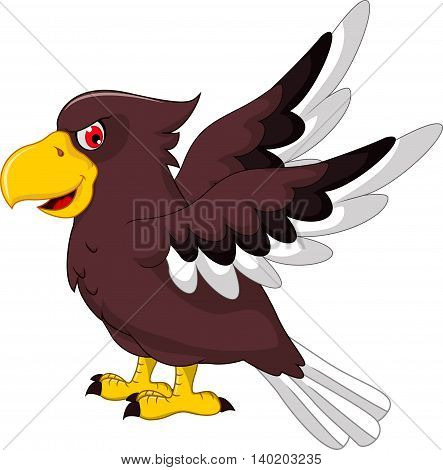 Cute Eagle cartoon flying for you design
