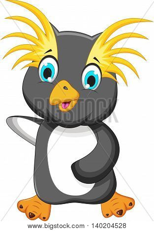 funny king penguin cartoon for you design