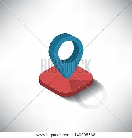 location checker button icon isomatric EPS version10