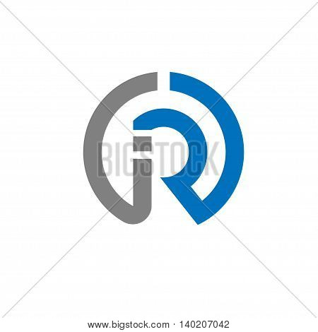letter IR with circle creative logo concept, innovative IR letter icon concept