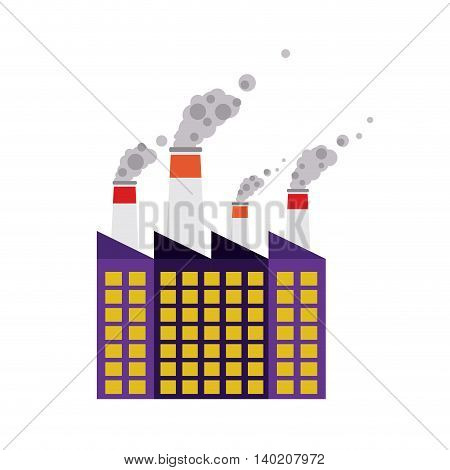 building of industrial plant isolated icon design, vector illustration  graphic