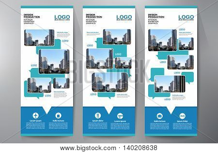 Exhibition Roll Up Displays Template For Print.